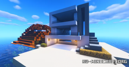Скачать Modern Beach House by xenmods для Minecraft