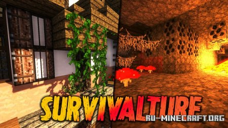 Скачать Survivalture [32x] для Minecraft 1.15
