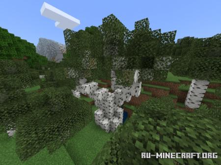 Скачать Aesthetic Trees для Minecraft PE 1.16