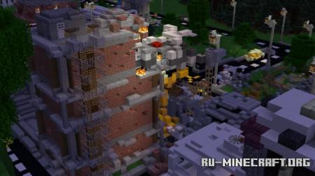 Скачать Minecraft Survival Games Map (Quarantine's Fate) для Minecraft