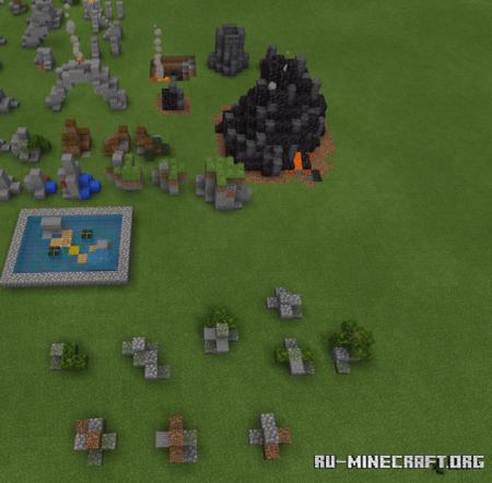 Скачать Rocks V3 (120+ Structures) для Minecraft PE 1.16