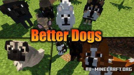 Скачать Better Dogs для Minecraft 1.15