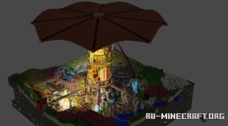 Скачать Intrigue - the Cyberpunk Umbrella city для Minecraft