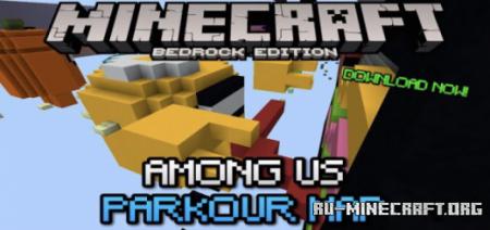 Скачать Among Us Parkour для Minecraft PE