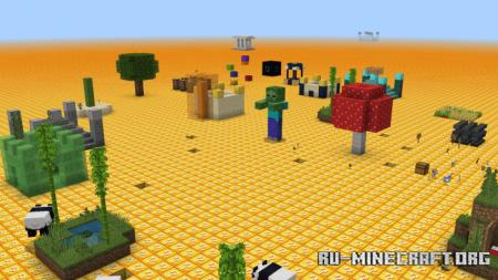 Скачать Flat Lucky Worlds для Minecraft PE