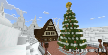 Скачать Escape from Mount Ginger: A Christmas Rollercoaster для Minecraft