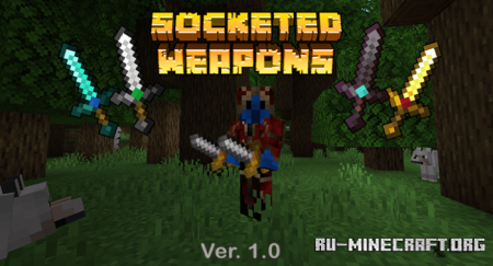 Скачать Socketed Weapons для Minecraft PE 1.16