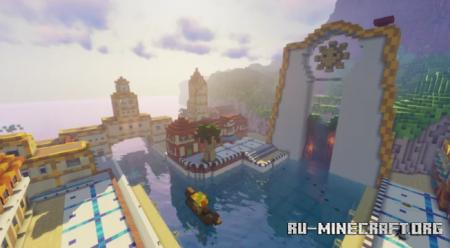 Скачать Delfino Plaza by yomikester238 для Minecraft