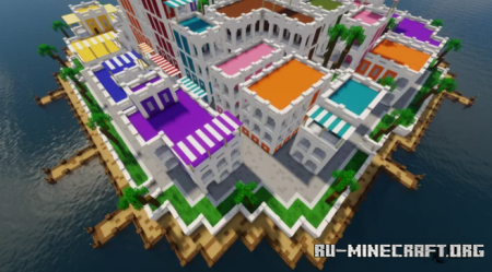 Скачать Colorful Small Town by Yvent для Minecraft