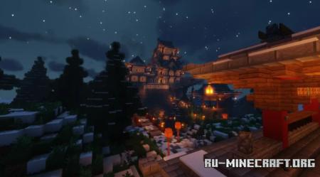 Скачать Snowy Japanese castle by CreativeHome для Minecraft