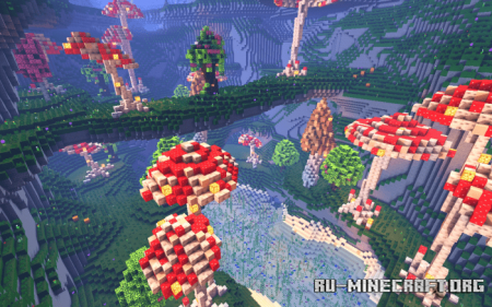 Скачать Mushroom Caves Survival для Minecraft PE