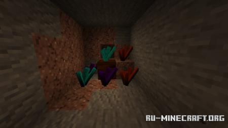 Скачать Cave Crystals (New 3D Blocks and Armors) для Minecraft PE 1.16