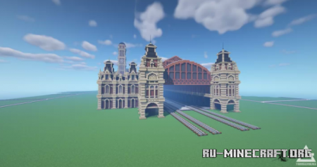 Скачать Luz Train Station для Minecraft