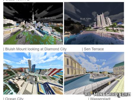Скачать Blue Topia для Minecraft PE
