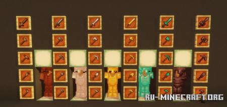 Скачать All Unique Tool Retextures для Minecraft 1.16