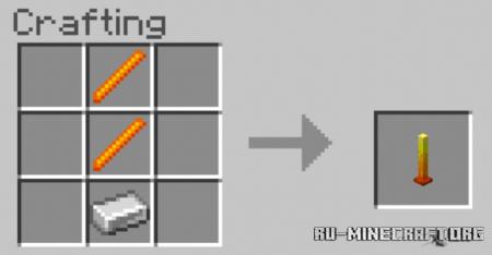 Скачать More Rods для Minecraft PE 1.16