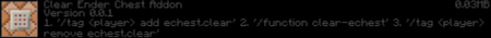 Скачать Clear Ender Chest для Minecraft PE 1.16