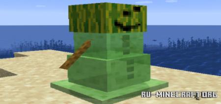 Скачать SlimeGolems для Minecraft PE 1.16