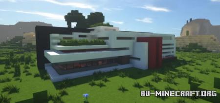 Скачать Moderne House by lolokie для Minecraft