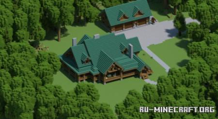 Скачать Woodland Log Home для Minecraft