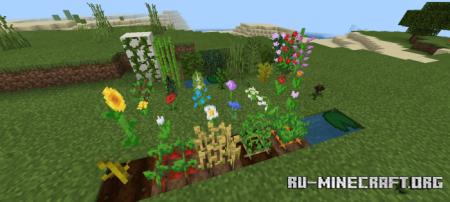 Скачать Waving Leaves and Water для Minecraft PE 1.16