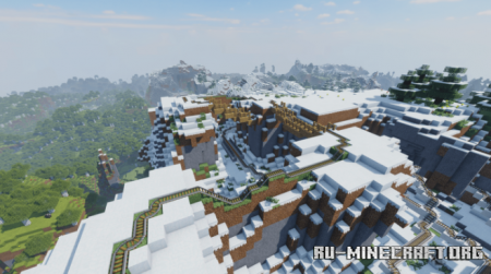 Скачать Winter - Large roller coaster для Minecraft