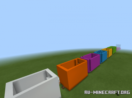 Скачать Every Color Rainbow Parkour для Minecraft PE