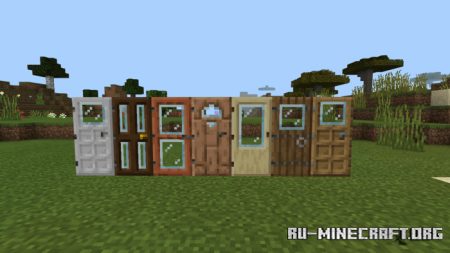 Скачать Windowed Doors and Trapdoors для Minecraft PE 1.16
