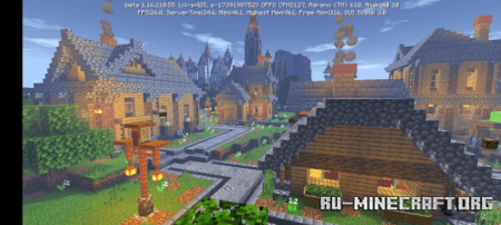 Скачать Medieval Village by GOLDENknight YT для Minecraft PE
