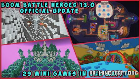 Скачать Boom Battle Heroes 13.0 by Herotorxp для Minecraft PE