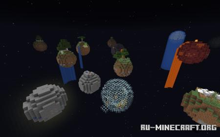 Скачать Floating Planets Survival для Minecraft