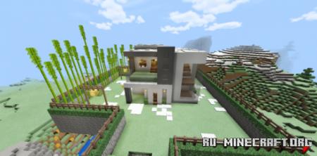 Скачать Mountain Mansion by PauFS для Minecraft PE