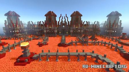 Скачать Meltrock Fortress - RTX Adventure для Minecraft