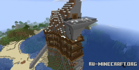 Скачать Luxurious Mountain Home by MettyHall для Minecraft