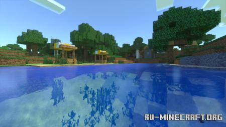 Скачать Fedia's RTX Water для Minecraft PE 1.16