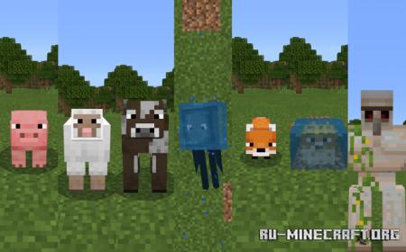 Скачать Crossed Eyes Mobs для Minecraft PE 1.15