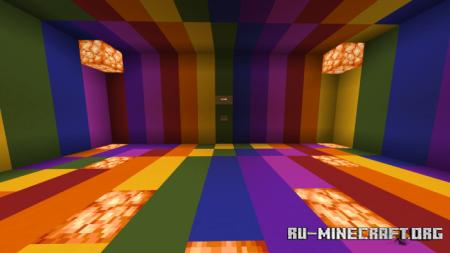 Скачать Rainbow Parkour 2 для Minecraft PE