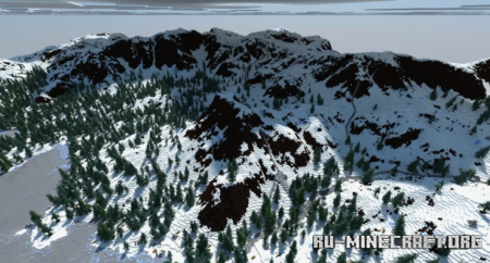 Скачать Snowy Mountains by cristian163 для Minecraft
