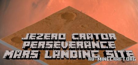 Скачать Jezero Crater Perseverance Mars для Minecraft PE
