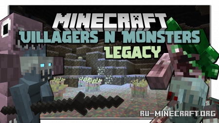 Скачать Villagers and Monsters Legacy для Minecraft 1.16.5