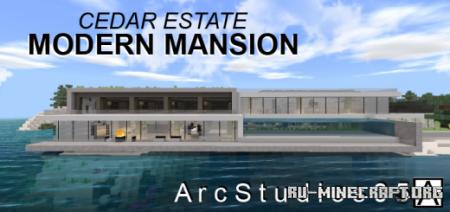Скачать Modern Mansion – Cedar Estates для Minecraft PE