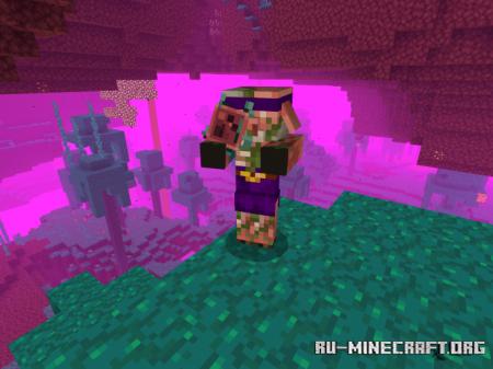 Скачать Piglin Fungus Throwers для Minecraft PE 1.16