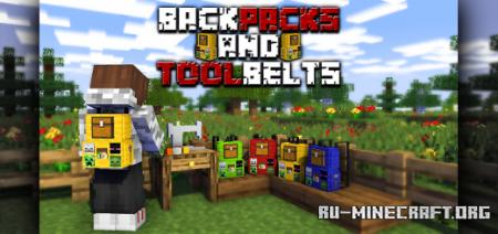 Скачать Backpacks & Toolbelts V1.0 для Minecraft PE 1.16