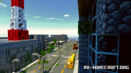 Скачать Zombiepolis – A Post Apocalyptic City для Minecraft PE