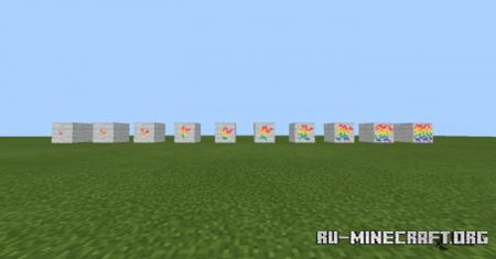 Скачать Blocks Break Colorful Animation для Minecraft PE 1.16