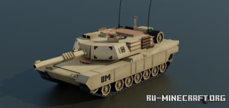 Скачать M1A2 Abrams Tank для Minecraft PE 1.16