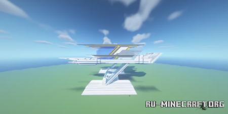 Скачать Big Futuristic House by SkiKraft для Minecraft