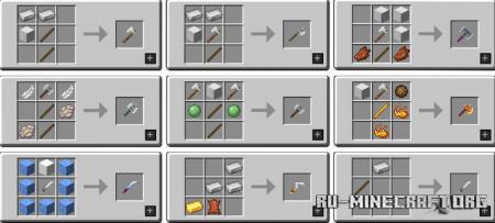 Скачать MC Dungeons Weapons для Minecraft 1.16.5