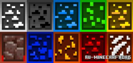 Скачать Animated Outlined Ores v.1 для Minecraft PE 1.16