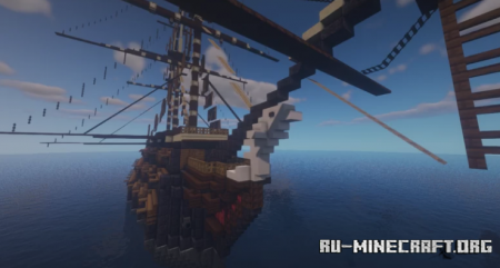 Скачать The Silver Shard - Fictional Ship of The Line для Minecraft